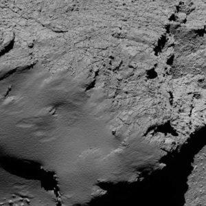 Foto scattata dalla sonda Rosetta durante la sua caduta libera. Fonte: Esa.