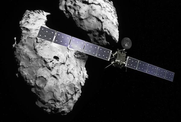 La sonda Rosetta in rotta di collisione con il meteorite. Fonte: Esa.