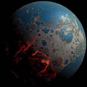 Effetti del Late Heavy Bombardment anche sul pianeta Terra (fonte: NASA)